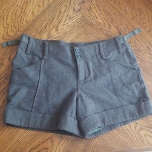 Wool Military Style Shorts